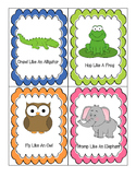 Misc. Animal Large Motor Transition Cards