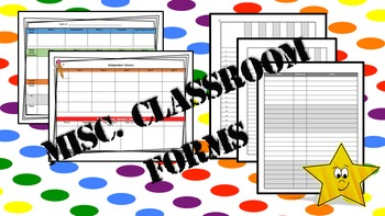 Classroom Forms Bundle - Reading planner (5 days), Class L