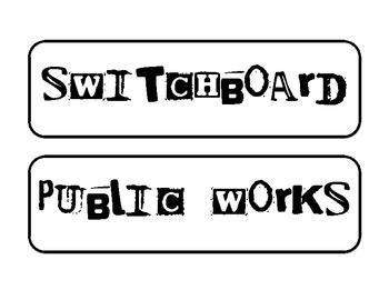 Misc: Classroom Job Tags: City Theme