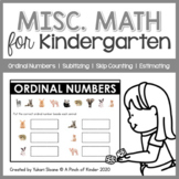 Misc. Math: Ordinal Numbers, Subitizing, Skip Counting and Estimating