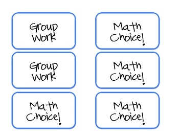 Misc: Reading and Math Rotations/Center Tags: Grades 3-5