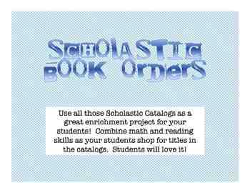 Misc: Scholastic Shopping: Reading & Math Enrichment Activity - Grades 3-5