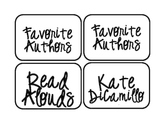 Misc: Upper Elementary Library Labels: Grades 3-6