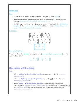 Miscellaneous Algebra 1 Notes