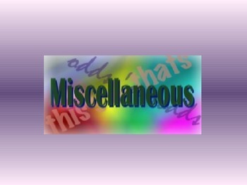 Miscellaneous Questions - Chat Class