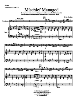 Mischief Managed - Trombone (Includes Full Performance and Piano Acc. mp3