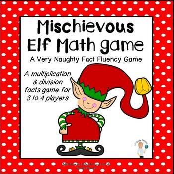 Mischievous Elf Math Fact Fluency Game