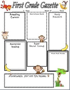 Mischievous Monkey Home Learning Newsletter