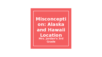 Misconception: Location of Alaska and Hawaii