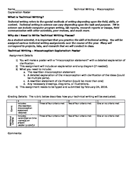 Misconception Poster - Student-Led - Technical Writing