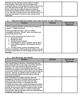 Day 028_Misconceptions of Islam - Lesson Handout