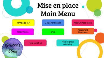 Mise en place Interactive Lesson-Google Slides