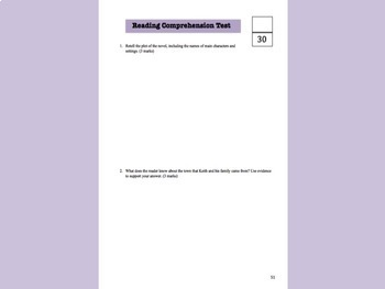 Misery Guts Novel Study Workbook