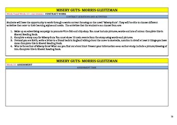 Misery Guts by Morris Gleitzman Shared Reading Unit