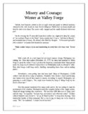 Misery and Courage: Winter at Valley Forge