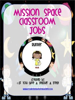 Classroom Jobs- Space Theme EDITABLE