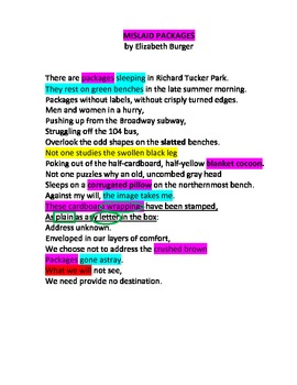 Mislaid Packages Poetry Unit