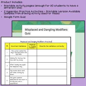 Misplaced and Dangling Modifiers - Common Core Aligned