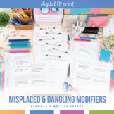 Misplaced and Dangling Modifiers Set: Presentation, Notes, Activities