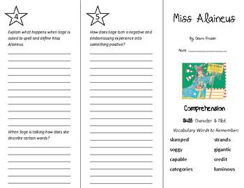Miss Alaineus Trifold - Treasures 5th Grade Unit 1 Week 1 (2009)
