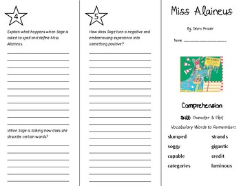 Miss Alaineus Trifold - Treasures 5th Grade Unit 6 Week 1 (2011)