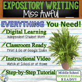 Miss Awful by Arthur Cavanaugh - Text Dependent Analysis Expository Writing