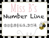 Miss B's Number Line