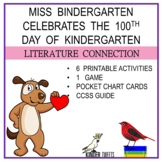 Miss Bindergarten And The 100 Day of Kindergarten -6 Easy Prep Literacy Centers