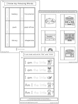 Miss Bindergarten Interactive Notebook ~ Reading Street Kindergarten