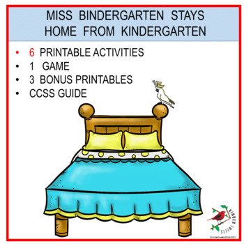 Sub Plans  Miss Bindergarten Stays Home  6 Easy Prep Literacy Centers