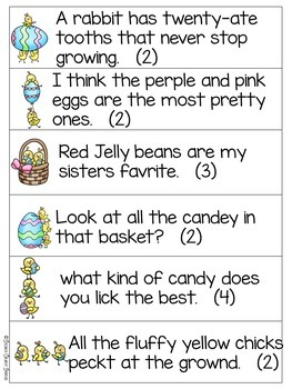 Miss Chicky's Mistakes - an Easter editing activity