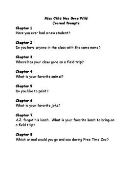My Weirder School #1: Miss Child Has gone Wild comprehension questions