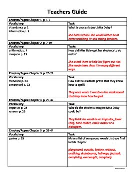 Miss Daisy is Crazy! Teacher and Student Comprehension Guide
