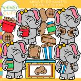 Miss Elephant's Peanut Shop Clip Art