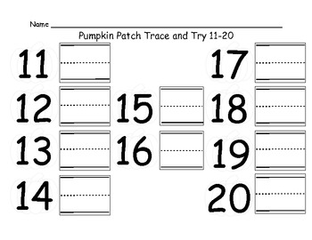 Miss Frizzell's Fantastic Fall Math Workstations Numbers 11-20 FULL VERSION