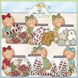 Miss Ginger Christmas Jars Clip Art - CU Colored Clip Art