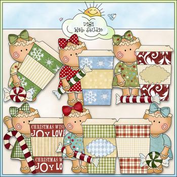 Miss Ginger Gingerbread Latte Clip Art - Christmas - CU Colored Clip Art