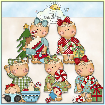 Miss Ginger Sweet Christmas Clip Art - CU Colored Clip Art