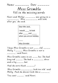 Miss Grimble Cloze