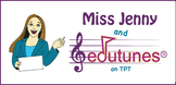 Miss Jenny and Edutunes Button