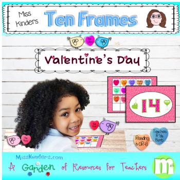 Miss Kinders Be My Valentine Ten Frames