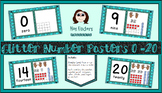 Glitter Number Posters 0-20