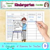 Common Core Checklist for Kindergarten