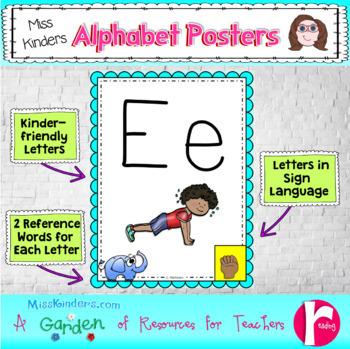 Alphabet Posters Love to Teach Theme
