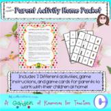 Parent Activity Home Packet