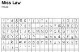 Miss Law's Font