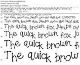 Miss Law's Jumbled  Dots Font