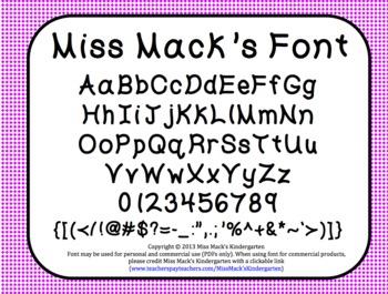 Miss Mack's Font