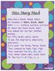 Miss Mary Mack Poem and Quiz RL.2.4