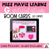 Miss Mavis Learns the G Sound- Boom Cards- Valentine's Day- Speech Therapy